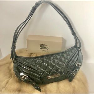 BURBERRY Patent Leather Quilted Buckle